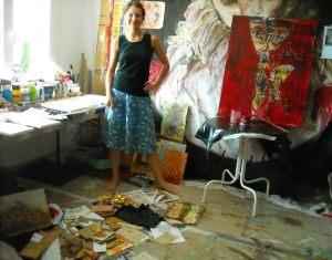 Work in Yvonne Rüegg's Studio