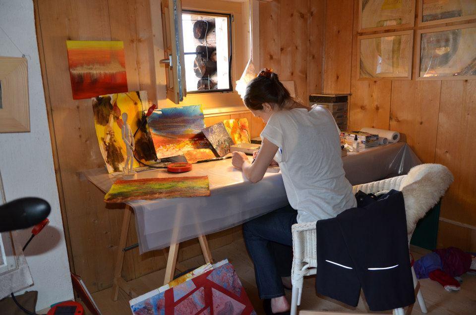 Teen art studio residents